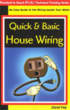 Quick & Basic House Wiring - book, manual